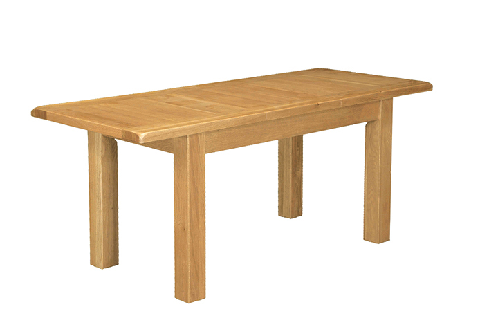 Dining Tables - Norfolk Rustic Solid Oak 150-196cm Extending Dining Table