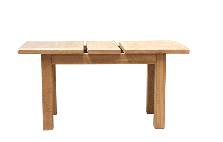 Dining Tables - Norfolk Rustic Solid Oak 120-150cm Extending Dining Table