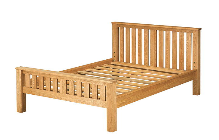 Bed Frames - 4ft6in Norfolk Rustic Solid Oak Double Bed Frame