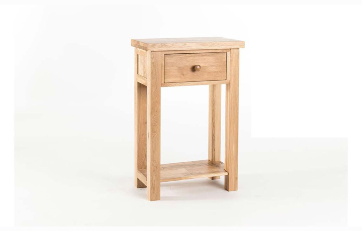 consoles - York Oak - Living - Table - 1 Drawer Console Table