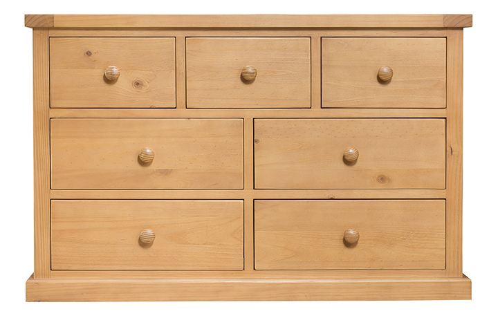 Chest Of Drawers - Country Pine 3 Over 4 Chest Of Drawers