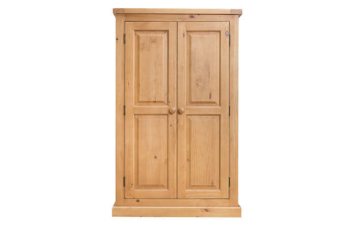 wardrobes - Country Pine - Bedroom - Robes - Compact Double Wardrobe