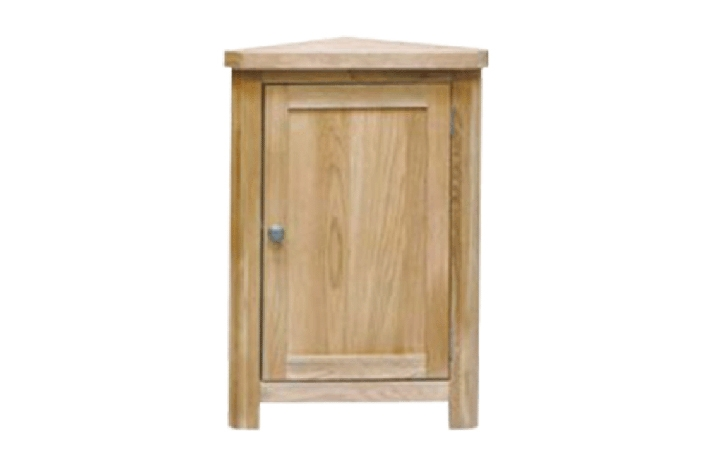 Suffolk Solid Oak Furniture Range - Suffolk Solid Oak Corner Cabinet 800mm