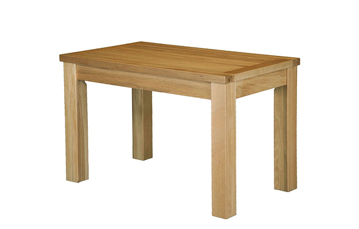 Suffolk Solid Oak Furniture Range - Suffolk Solid Oak 120cm Fixed Top Dining Table