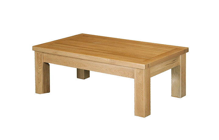 Suffolk Solid Oak Furniture Range - Suffolk Solid Oak Large Coffee Table