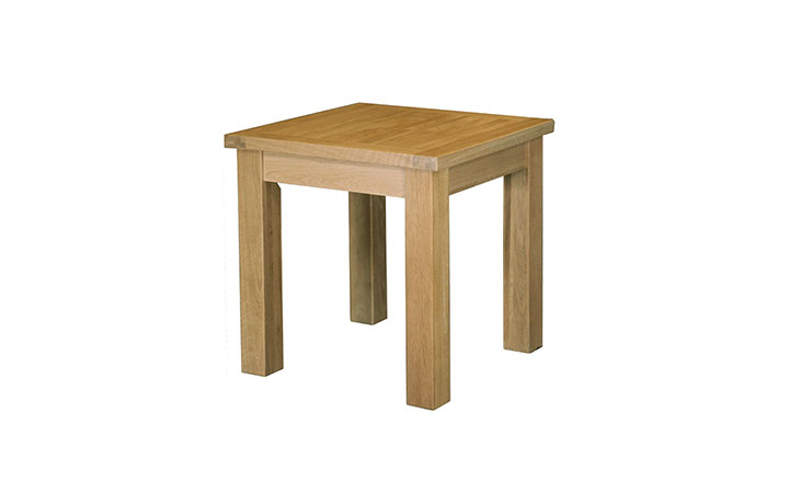 Suffolk Solid Oak Furniture Range - Suffolk Solid Oak Fixed Top 75cm Square Dining Table