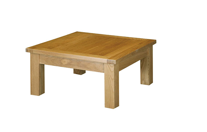 Suffolk Solid Oak Furniture Range - Suffolk Solid Oak Coffee Table 75x75cm