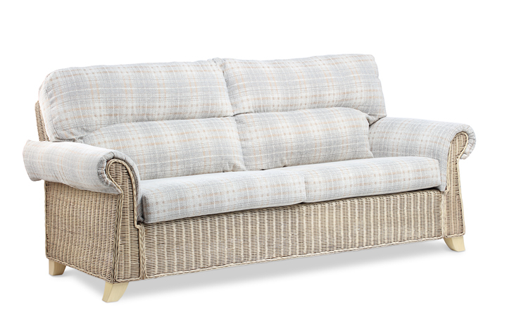 Clifton Cane Range in Natural Wash - Clifton 3 Seat Cane Sofa