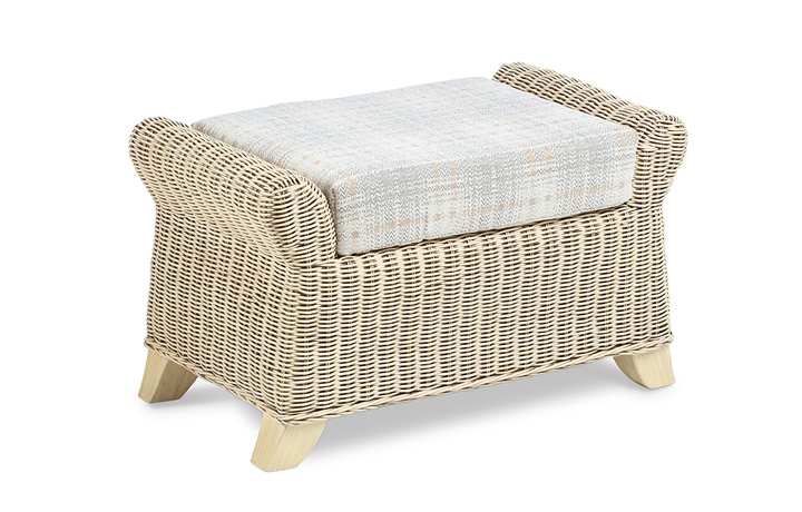 Clifton Cane Range in Natural Wash - Clifton Cane Footstool
