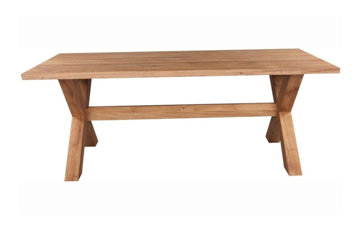 Dining Tables - Majestic Solid Oak 200cm Cross Leg Dining Table