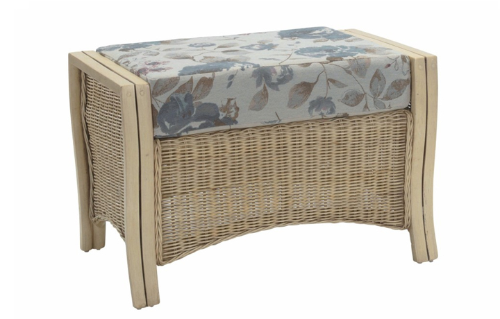 Opera Range in Natural Wash - Opera Footstool