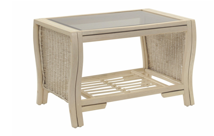 Opera Range in Natural Wash - Opera Coffee Table with Bronze Glass