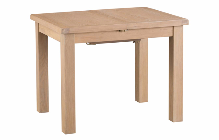 Dining Tables - Burford Oak 100cm Butterfly Extending Table