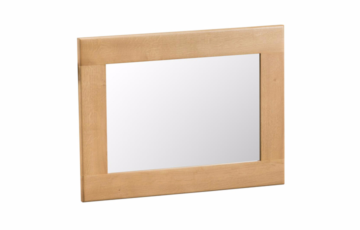 mirrors - Burford Oak Small Wall Mirror