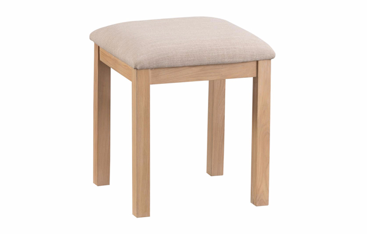 Dressing Tables & Stools - Burford Oak Dressing Table Stool