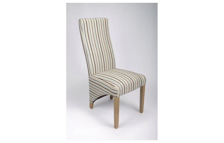 Chairs & Bar Stools - Brent Stripe Duck Egg Blue Chair