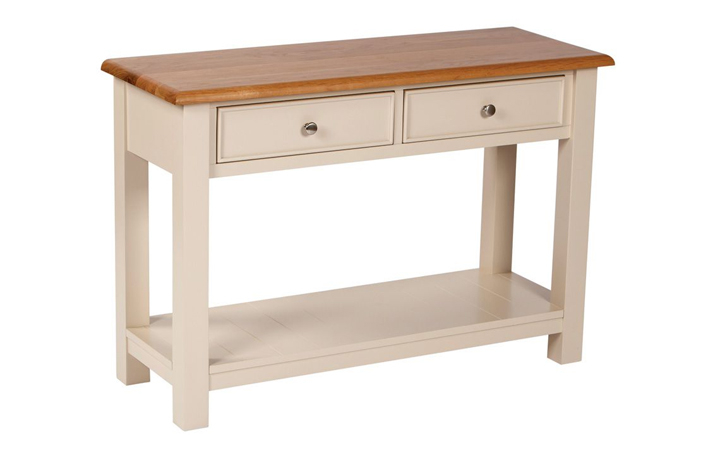 country-house-truffle-painted-collection - Country House 2 Drawer Console Table