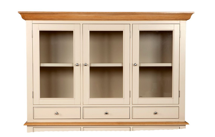 Dressers - Country House Large Glazed Sideboard Top