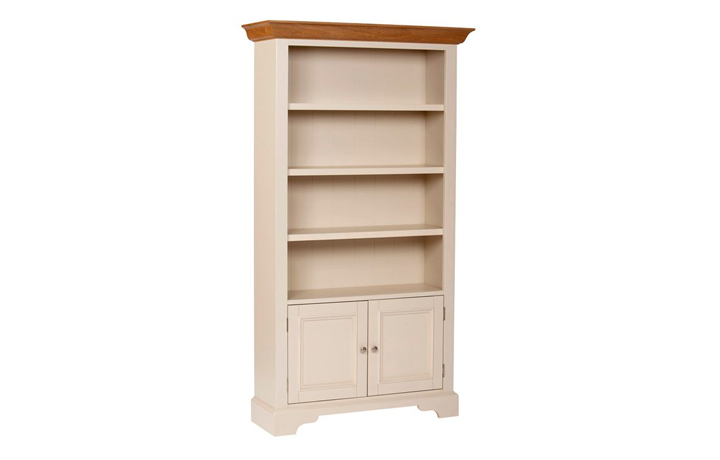 bookcases - Country House - Living - Bookcase - Tall Wide Bookcase with Cupboard