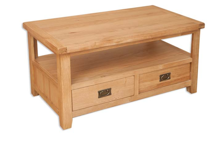 Windsor Natural Oak - Windsor Natural Oak Coffee Table with Drawers