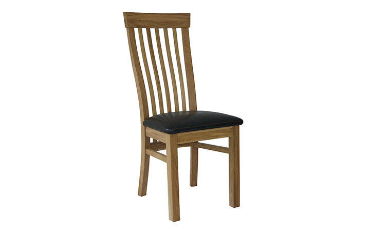 York Oak Range - York Solid Oak Stockholm Dining Chair With Pad