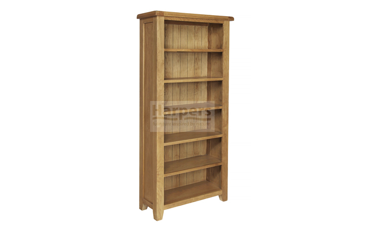 Bookcases - Essex Rustic Oak Large Bookcase