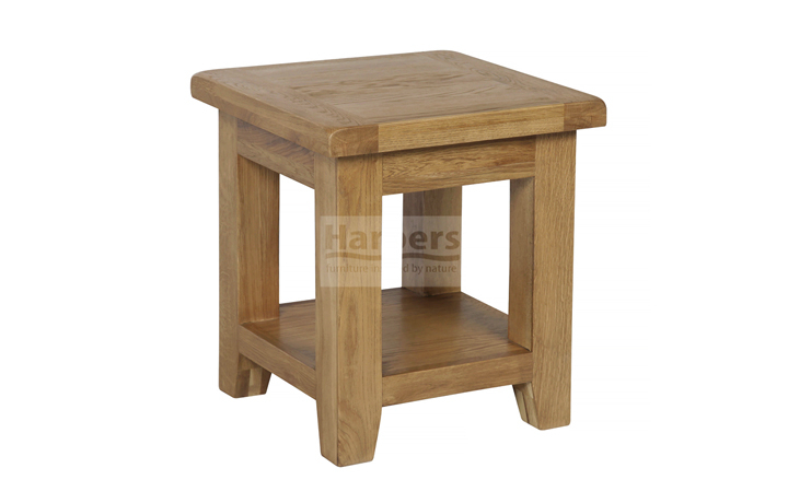 Essex Rustic Oak Furniture Range - Essex Rustic Oak Side Table