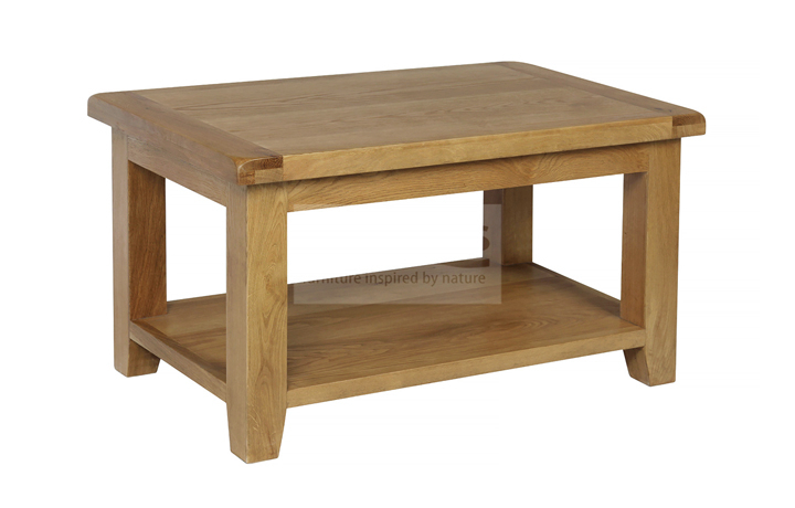 Essex Rustic Oak Furniture Range - Essex Rustic Oak Small Coffee Table