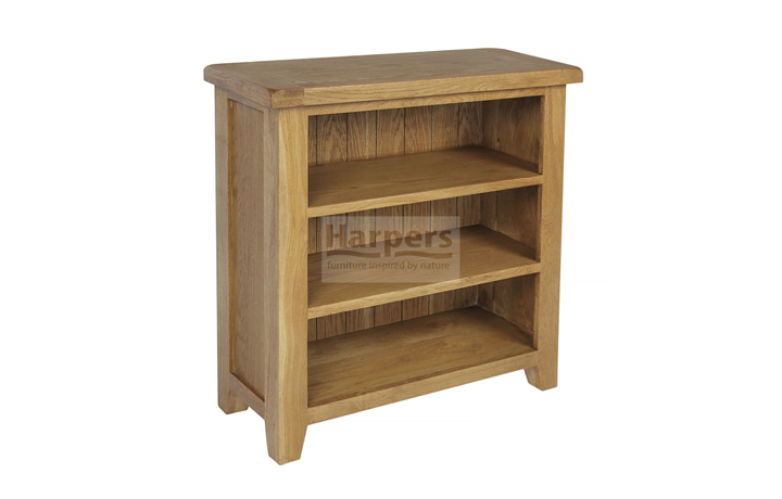 Essex Rustic Oak Furniture Range - Essex Rustic Oak Small Bookcase