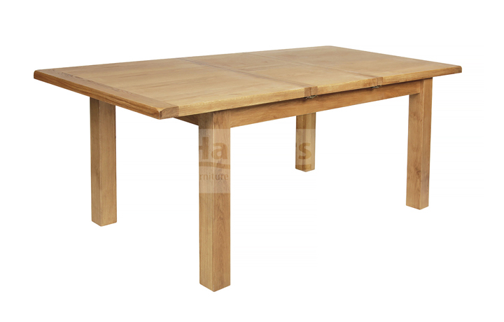 dining-tables - Essex Rustic Oak 150cm Extending Dining Table