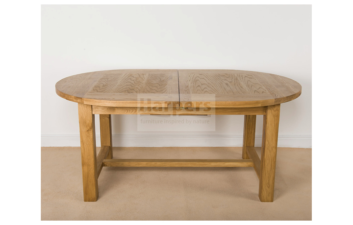 tables - Essex Oak - Dining - Oval Extending Dining Table