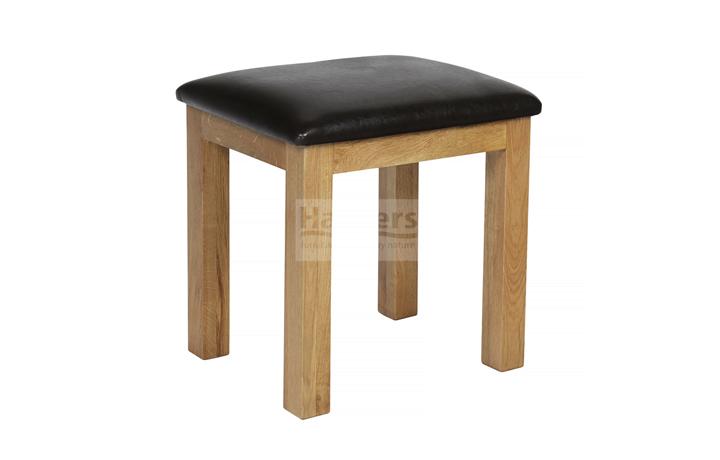 Essex Rustic Oak Furniture Range - Essex Rustic Oak Dressing Table Stool