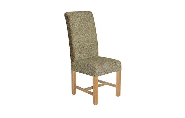 Chairs & Bar Stools - Solo Fabric Chair Gold Leaf (Clearance)