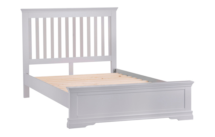Bed Frames - 4ft6in Salthouse Grey Painted Double Bed Frame