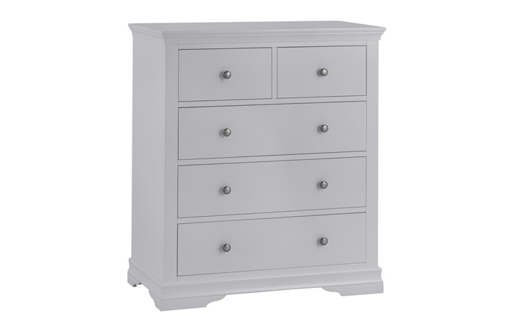 Chest Of Drawers - Salthouse Grey Painted 2 Over 3 Chest Of Drawers