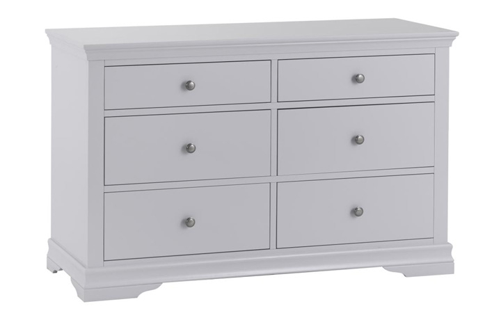 Chest Of Drawers - Salthouse Grey Painted 6 Drawer Chest