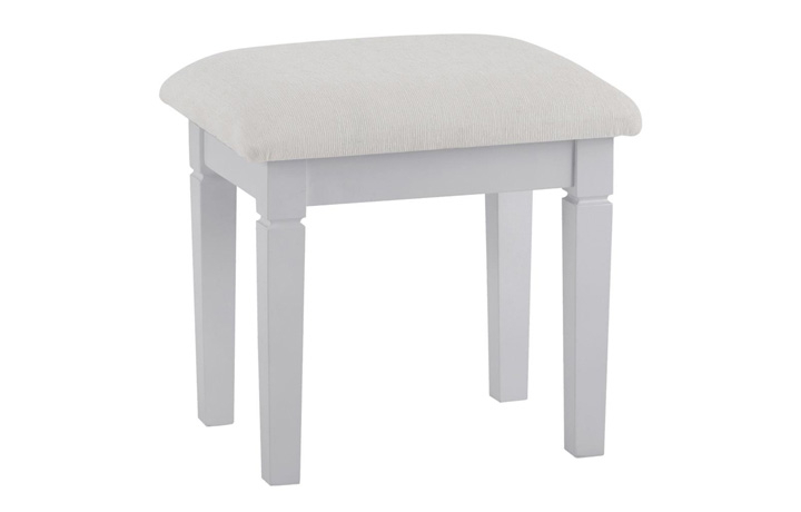 Salthouse Grey Painted Bedroom Collection - Salthouse Grey Painted Dressing Table Stool
