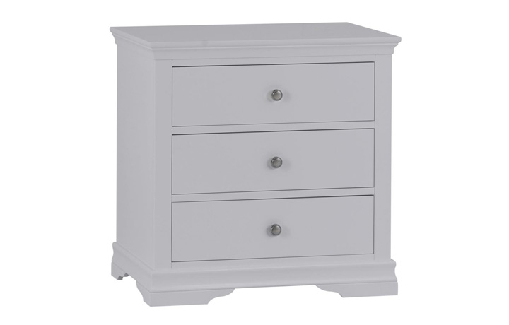 Salthouse Grey Painted Bedroom Collection - Salthouse Grey Painted 3 Drawer Chest