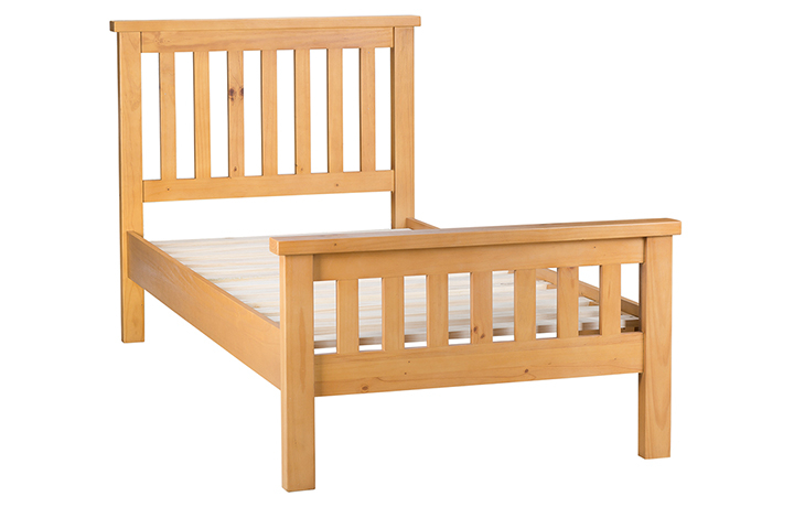 beds - Country Pine 3ft Single Low Foot End Bed