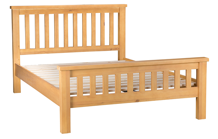 beds - Country Pine Double Low Foot End Bed