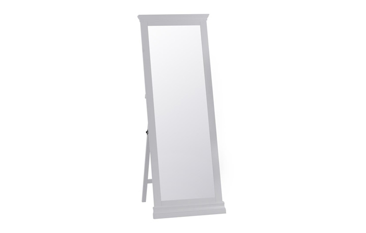 Salthouse Grey Painted Bedroom Collection - Salthouse Grey Painted Cheval Mirror