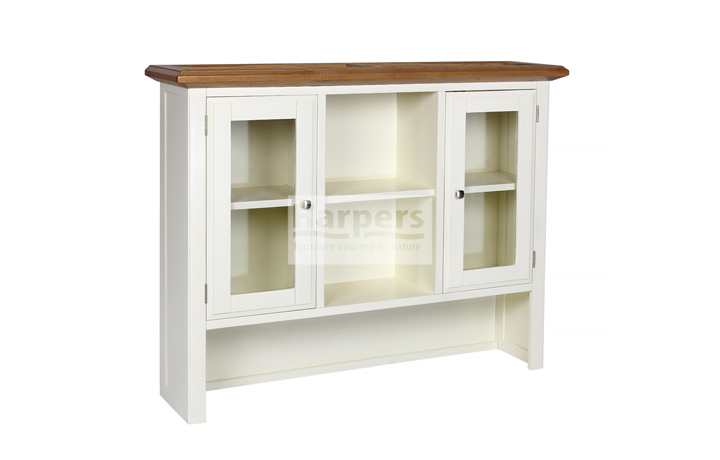 Dressers - Kent Cream Painted Large Glass Door Sideboard Top