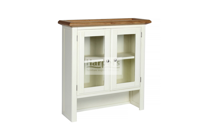 Dressers - Kent Cream Painted Small Glass Door Sideboard Top
