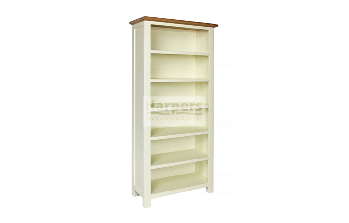 Bookcases - Kent Cream Painted Large Bookcase