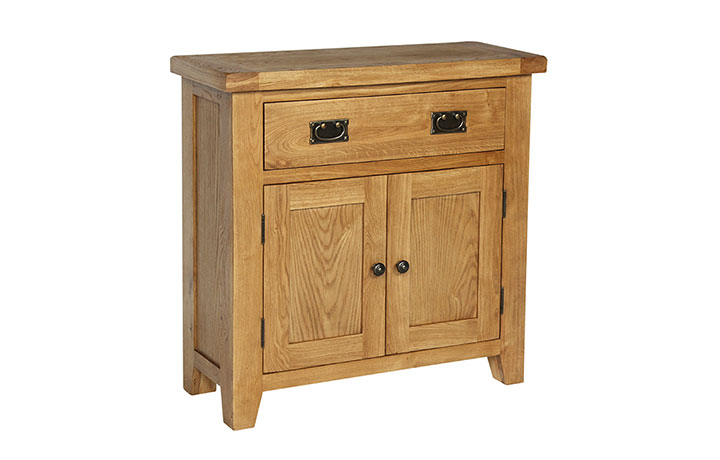 Essex Rustic Oak Furniture Range - Essex Rustic Oak Compact Sideboard