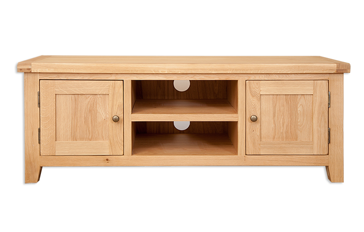 TV Cabinets - Windsor Natural Oak Large TV Cabinet