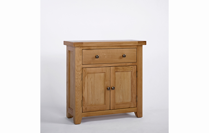 Devon Oak Furniture Range (Web Exclusive) - Devon Oak Compact Sideboard