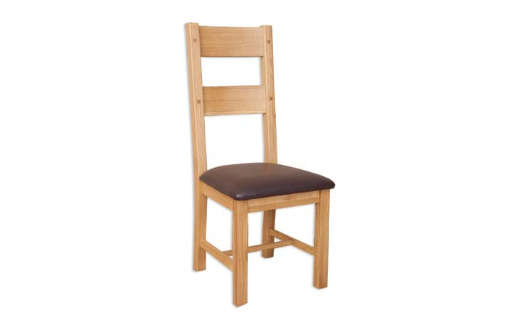 Windsor Natural Oak - Amish Style Dining Chair With Seat Pad
