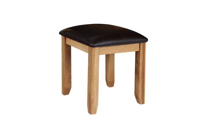 Dressing Tables & Stools - Foxbury Rustic Oak Dressing Table Stool