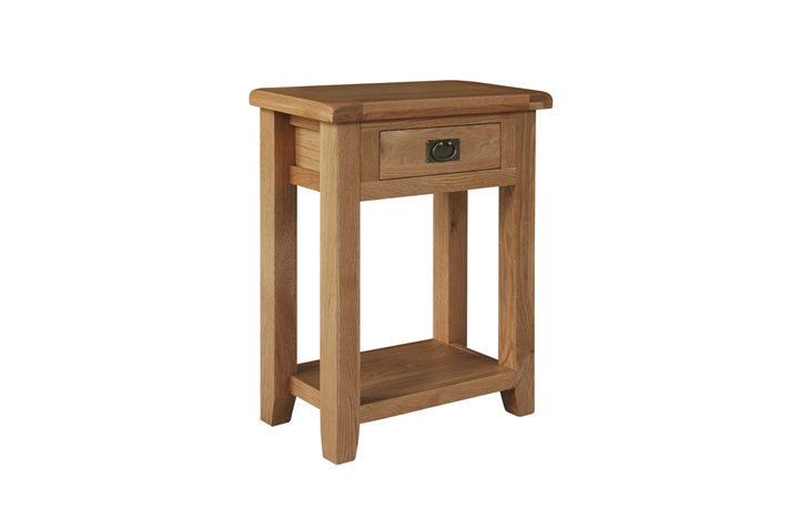 consoles - Sussex Rustic Oak 1 Drawer Console Table